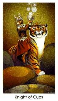 Warrior of Cups Tarot Card - Cat People Tarot Deck