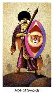 Ace of Arrows Tarot Card - Cat People Tarot Deck