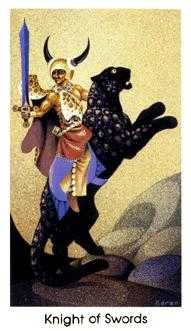 Cavalier of Swords Tarot Card - Cat People Tarot Deck