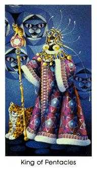 King of Diamonds Tarot Card - Cat People Tarot Deck