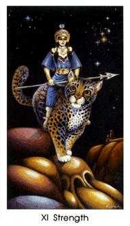 Strength Tarot Card - Cat People Tarot Deck