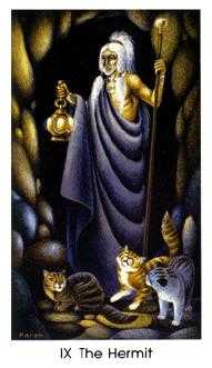 The Hermit Tarot Card - Cat People Tarot Deck