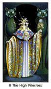 The High Priestess Tarot card in Cat People deck