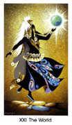 The World Tarot card in Cat People Tarot deck