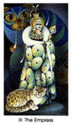 The Empress Tarot card in Cat People deck