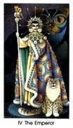 The Emperor Tarot card in Cat People deck