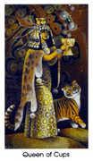 Queen of Cups Tarot card in Cat People deck