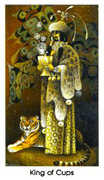 King of Cups Tarot card in Cat People deck