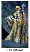 The Hierophant Tarot card in Cat People deck
