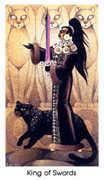 King of Swords Tarot card in Cat People Tarot deck