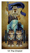 The Chariot Tarot card in Cat People deck