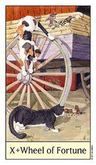 The Wheel of Fortune Tarot Card - Cat's Eye Tarot Deck