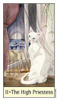 The High Priestess Tarot Card - Cat's Eye Tarot Deck