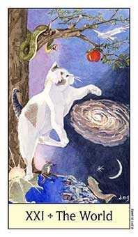 The World Tarot Card - Cat's Eye Tarot Deck