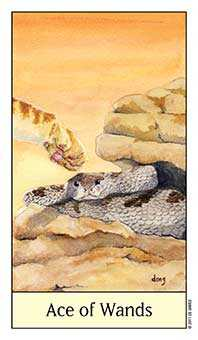 Ace of Staves Tarot Card - Cat's Eye Tarot Deck