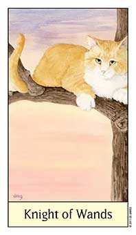 Knight of Batons Tarot Card - Cat's Eye Tarot Deck
