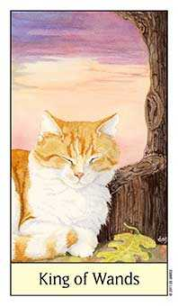 King of Staves Tarot Card - Cat's Eye Tarot Deck