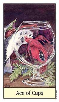 Ace of Cups Tarot Card - Cat's Eye Tarot Deck