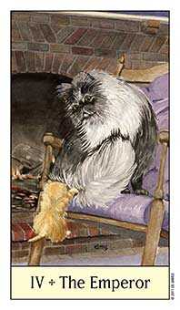 The Emperor Tarot Card - Cat's Eye Tarot Deck