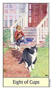 Eight of Cups Tarot Card - Cat's Eye Tarot Deck
