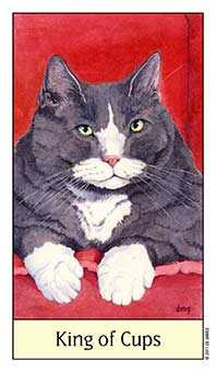 King of Cauldrons Tarot Card - Cat's Eye Tarot Deck