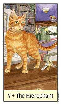 The Hierophant Tarot Card - Cat's Eye Tarot Deck