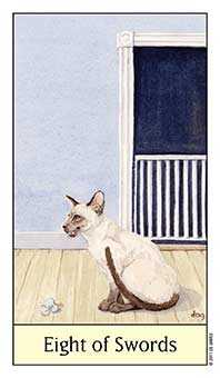 Eight of Spades Tarot Card - Cat's Eye Tarot Deck