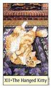 The Hanged Man Tarot card in Cat's Eye deck