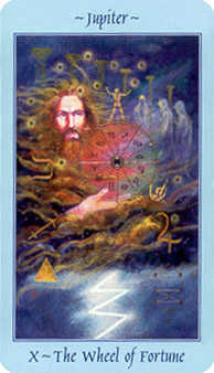 The Wheel of Fortune Tarot Card - Celestial Tarot Deck