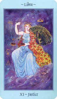 Justice Tarot Card - Celestial Tarot Deck