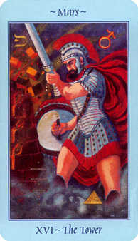 The Falling Tower Tarot Card - Celestial Tarot Deck