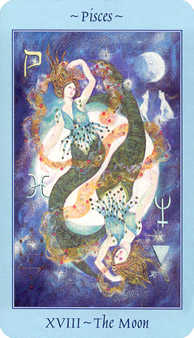 The Moon Tarot Card - Celestial Tarot Deck