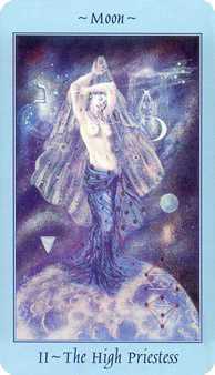 The High Priestess Tarot Card - Celestial Tarot Deck