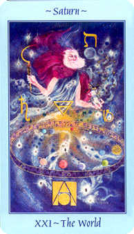 The World Tarot Card - Celestial Tarot Deck