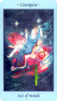 Ace of Batons Tarot Card - Celestial Tarot Deck