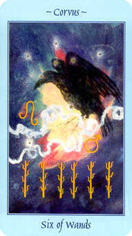 Six of Rods Tarot Card - Celestial Tarot Deck