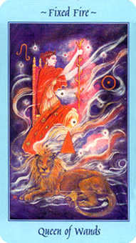 Queen of Batons Tarot Card - Celestial Tarot Deck