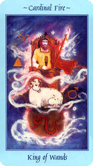 King of Staves Tarot Card - Celestial Tarot Deck