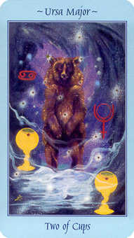 Two of Cups Tarot Card - Celestial Tarot Deck