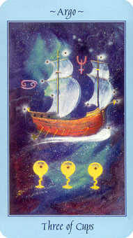 Three of Cauldrons Tarot Card - Celestial Tarot Deck