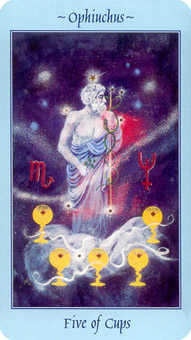 Five of Ghosts Tarot Card - Celestial Tarot Deck