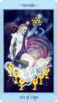 Six of Ghosts Tarot Card - Celestial Tarot Deck