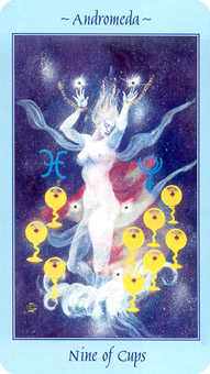 Nine of Cups Tarot Card - Celestial Tarot Deck