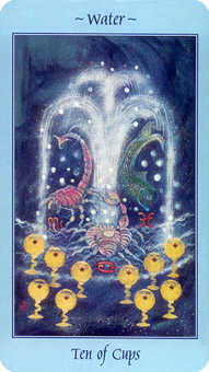 Ten of Hearts Tarot Card - Celestial Tarot Deck