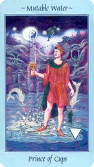 Prince of Hearts Tarot Card - Celestial Tarot Deck