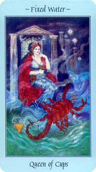 Queen of Bowls Tarot Card - Celestial Tarot Deck
