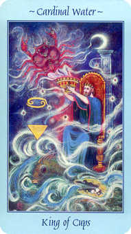 King of Cauldrons Tarot Card - Celestial Tarot Deck