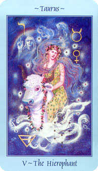 The Hierophant Tarot Card - Celestial Tarot Deck