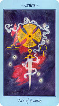 Ace of Wind Tarot Card - Celestial Tarot Deck