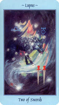 Two of Bats Tarot Card - Celestial Tarot Deck